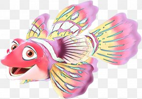 Fictional Character Fashion Accessory - Pink Animal Figure Fish Wing Fish PNG