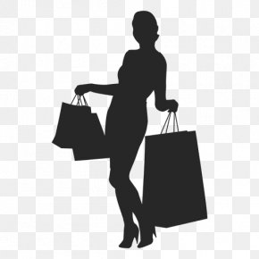 Woman Silhouettes - Black Friday Shopping Silhouette Woman PNG
