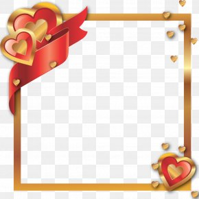Hearts And Borders Frames - Clip Art Image Picture Frames Digital Photography PNG