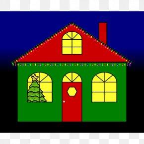 Christmas - Gingerbread House Christmas Lights Clip Art PNG