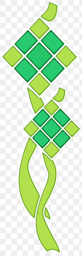 Symbol Green - Background Ketupat Lebaran PNG