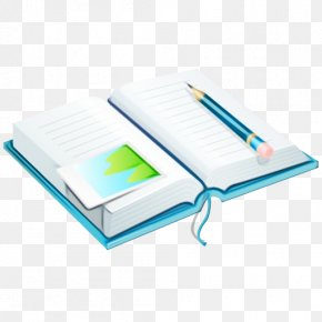 Stationery Book Cover - Pen And Notebook PNG