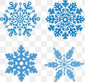 Vector Winter Snow Flurries - Christmas Snowflake Euclidean Vector PNG