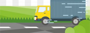 The Same Day Delivery Truck - Transport Illustration PNG