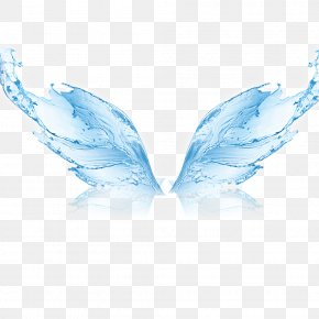 Blue Water Wave Texture Wings Material - Water Filter Membrane Reverse Osmosis Manufacturing PNG