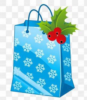 Transparent Christmas Blue Gift Box Clipart - Gift Christmas Santa Claus Clip Art PNG