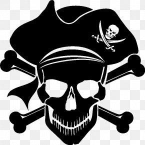 Black Skull - Piracy Skull And Crossbones Jolly Roger Clip Art PNG
