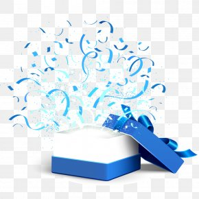Open The Blue Gift Box Vector - Box Gift Computer File PNG