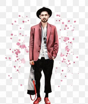 Street Fashion Red Leisure Suit Fashion Illustration. - Fashion Illustration Fashion Design Drawing Illustration PNG