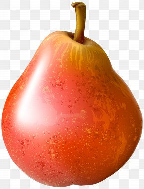 Red Pear Transparent Clip Art Image - Pear Cartoon PNG