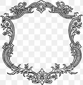 Decorative Border Picture - Picture Frame Vintage Clothing Clip Art PNG
