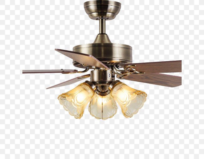 Retro Style Chandelier Ceiling Fan Png