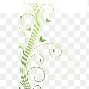 Green Slender Winding Flower Rat Vector Material - Flower Download Euclidean Vector PNG