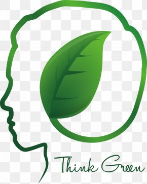 Vector Creative Green Leaves Of The Human Brain - Green Human Brain Clip Art PNG