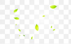Leaves Leaves Sunlight Effect - Line Point Angle Green Pattern PNG