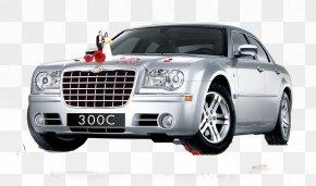 Decorated Wedding Car - Car Chrysler 300 Wedding PNG