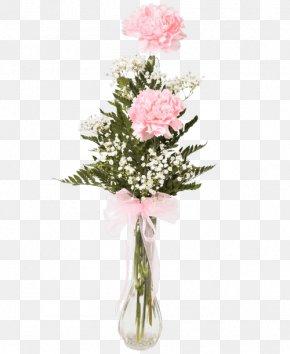 Vase - Garden Roses Floral Design Vase Carnation Flower Bouquet PNG
