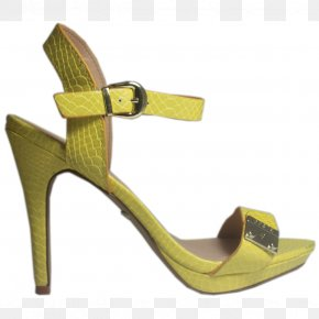 High Heel - Footwear Shoe Yellow Sandal Beige PNG