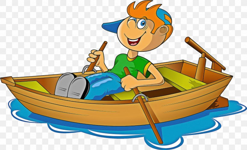 Boat Cartoon Png 2398x1457px Rowing Boat Boating Canoe Cartoon Download Free