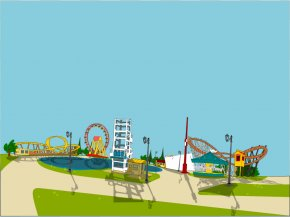 Amusement Cliparts - Wonderland Park Amusement Park Clip Art PNG