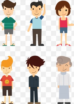 Vector Illustration People 3.rar - Cartoon Flat Design Illustration PNG