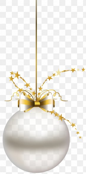 Silver Christmas Balls - Christmas Ornament Ball Clip Art PNG