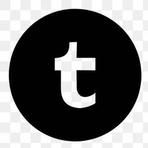 Black Circle Tumblr Logo Icon - Apple Icon Image Format PNG