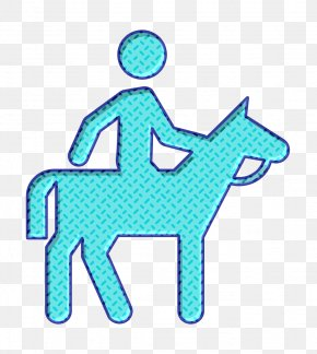 Turquoise Equestrian Icon - Complex-facilities Icon Equestrian Icon PNG