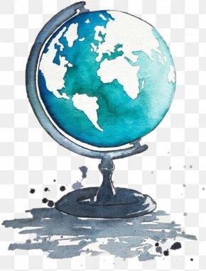 Globe - Globe Watercolor Painting Drawing Art PNG