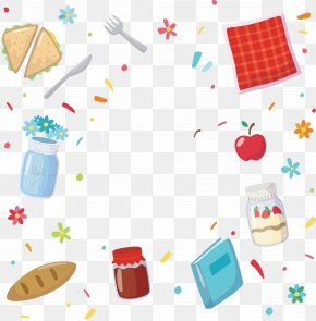 Food Background Design - Jam Sandwich Food PNG