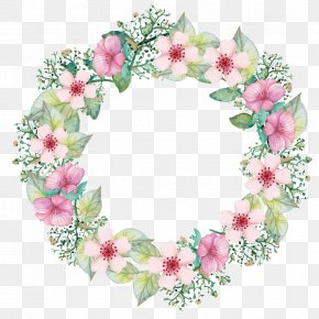 Vector Garland - Paper Flower Bouquet Wreath PNG