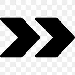 Blackandwhite Number - Arrow Black PNG