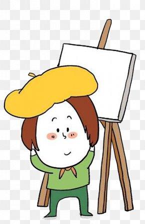 Child Painter - Cartoon Child Painting Painter PNG