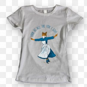 Watercolor Fox - T-shirt Blouse Sleeve Crew Neck PNG