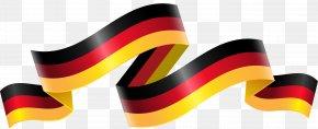 German Flag Streamers - Flag Of Germany PNG