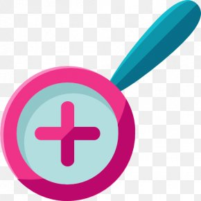 A Purple Magnifying Glass - Magnifying Glass User Interface Icon PNG