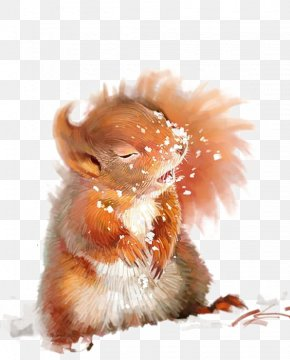Watercolor Squirrel - Squirrel Watercolor Painting Drawing Art PNG