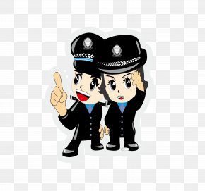 Vector Police Pictures - Chinese Public Security Bureau Police Officer Cartoon Firefighter PNG