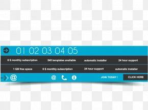 Vector Blue Menu - 3D Computer Graphics Menu PNG