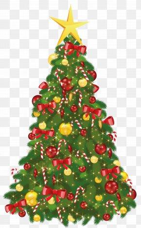 Transparent Xmas Tree With Star - Christmas Tree Christmas Day Santa Claus PNG