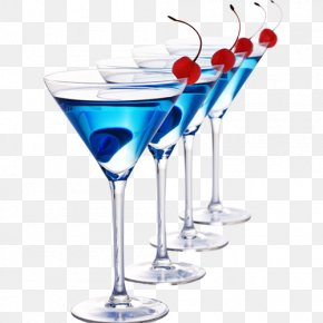 Cocktail - Cocktail Wine Martini Rum Blue Lagoon PNG