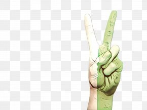 V Sign Sign Language - Finger Hand Glove Gesture Arm PNG