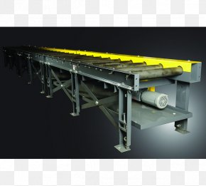 Machine Conveyor System Band Saws Material Handling Lineshaft Roller Conveyor PNG