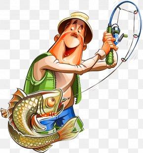 Fishing - Fishing Rods Cartoon Clip Art PNG