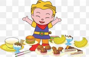 Peter Pan Eat Cake - Cake Clip Art PNG