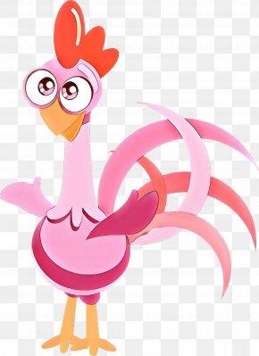 Livestock Pink - Chicken Rooster Cartoon Bird Clip Art PNG