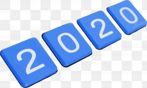 Electric Blue Text - Happy New Year 2020 New Years 2020 2020 PNG