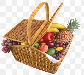 Basket - Basket Of Fruit Food Gift Baskets Clip Art PNG