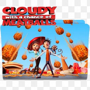 Cloudy With A Chance Of Meatballs - Cloudy With A Chance Of Meatballs Film Poster PNG