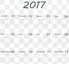 Transparent 2017 Calendar Clip Art Image - Calendar Clip Art PNG